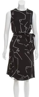 Calvin Klein Collection Silk Printed Dress