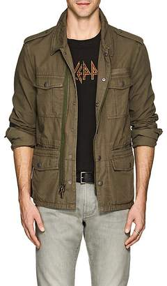 John Varvatos Men's Embroidered Cotton Ripstop Field Jacket