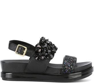 Ash embellished platform sandals $199.91 thestylecure.com