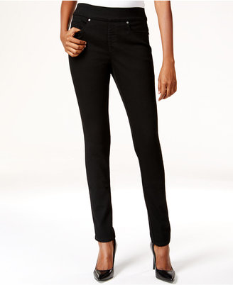 Style & Co. Pull-On Slim Straight-Leg Jeans, Black Wash, Only at Macy's $49 thestylecure.com