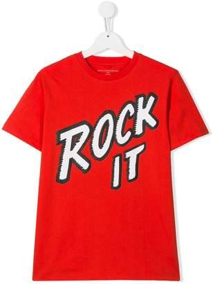 Stella McCartney TEEN rock print T-shirt