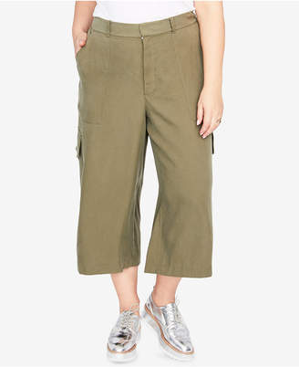 Rachel Roy Trendy Plus Size Wide-Leg Cargo Pants