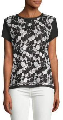 Bicolor Lace Tee