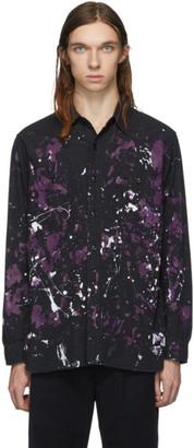 Needles Black Chambray Paint Work Shirt