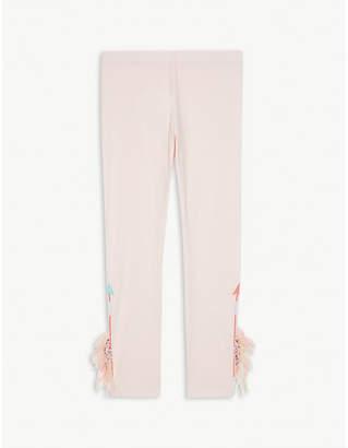 Billieblush Billie Blush Fringed stretch cotton leggings 4-12 years