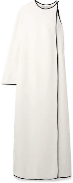 Valentino - Wrap-effect One-shoulder Silk Maxi Dress - Ivory