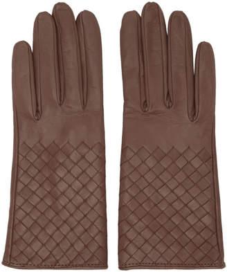 Bottega Veneta Pink Intrecciato Short Gloves