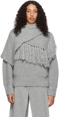 Sacai Grey Scarf Sweater