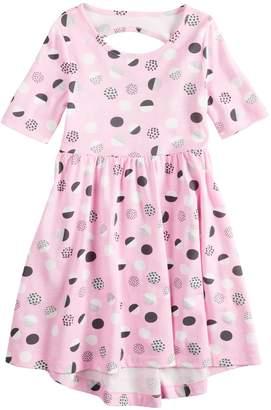 Girls 4-10 Jumping BeansElbow Sleeve Printed Dress