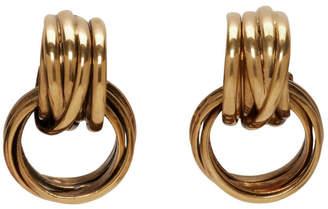 Balenciaga Gold Multiring Earrings