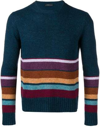 Prada knit panelled jumper