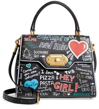 Dolce & Gabbana Welcome Graffiti Leather Satchel
