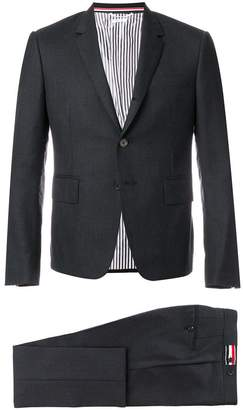 Thom Browne High Armhole Suit With Tie And Low Rise Skinny Trouser In Super 120's Twill