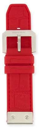 Brera 24mm Embossed Rubber Watch Strap, Red