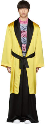 Palomo Spain SSENSE Exclusive Yellow Boxing Robe Coat