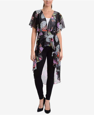 NY Collection Printed High-Low Tunic