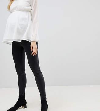Mama Licious Mama.licious Mamalicious Over The Bump Slim Jeans With Zip Detail