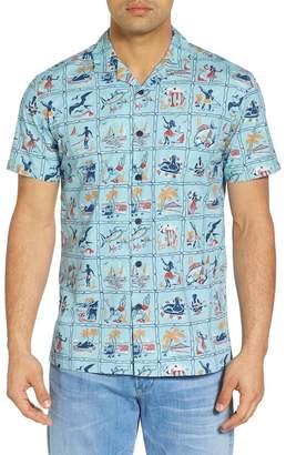 KAHALA Mini Series Regular Fit Broadcloth Camp Shirt