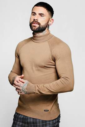 boohoo Muscle Fit Roll Neck Jumper