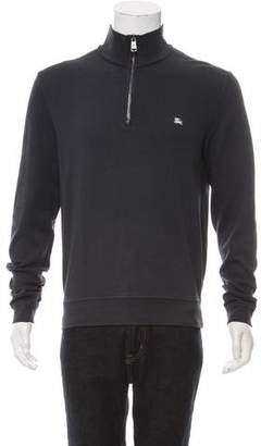 Burberry Zip-Up Pullover Sweatshirt