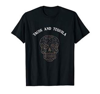 Tacos And Tequila Sugar Skull T-shirt Halloween Tee