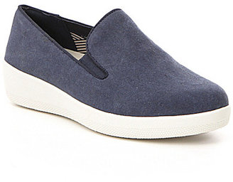 FitFlop Superskate Canvas Slip-Ons $100 thestylecure.com