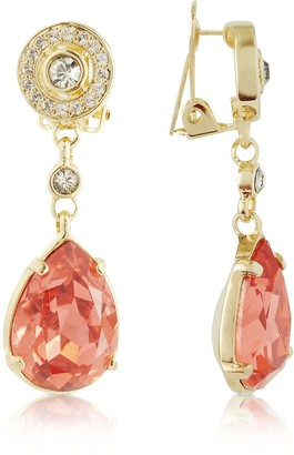 A-Z Collection Orange Clip-On Drop Earrings