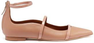 Malone Souliers 'Robyn' ankle strappy leather flats
