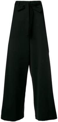 Hache belted wide leg trousers