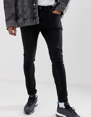 Cheap Monday tight skinny jeans in black haze