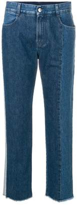 Stella McCartney two-tone straight leg jeans