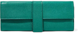 Smythson Grosvenor Textured-leather Jewelry Case - Emerald
