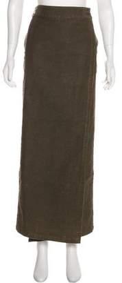 Dries Van Noten Corduroy Midi Skirt