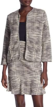 Max Studio Knit Boucle Short Jacket