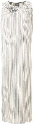 Lorena Antoniazzi striped maxi dress with sequin star details
