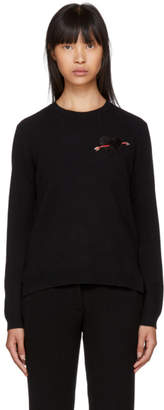 Valentino Black Cashmere Heart Sweater