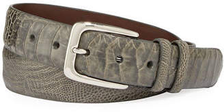 W.KLEINBERG W. Kleinberg Men's Ostrich Leather Belt