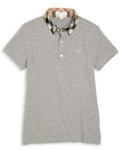 Burberry Little Boy's& Boy's Check Collar Polo Shirt