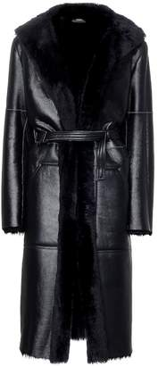 Joseph Hank leather and shearling coat