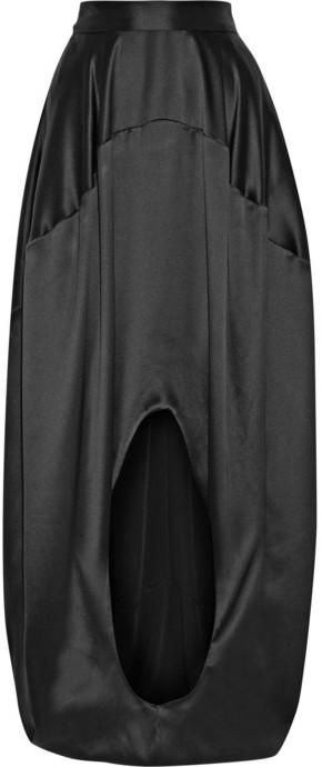 Oscar de la Renta Silk-satin maxi skirt