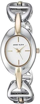 Anne Klein Women's AK/3123SVTT Two-Tone Open Link Bracelet Watch