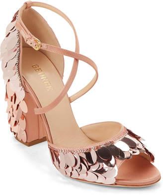 Gedebe Jenny Sequin-Embellished Satin Sandals