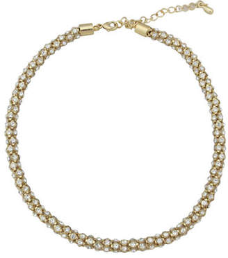 Cezanne Metal Crystal Collar Necklace
