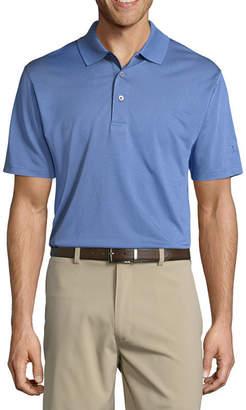 Pga Tour PGA TOUR Short Sleeve Jacquard Knit Polo Shirt