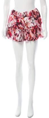 IRO Printed Tiered Shorts