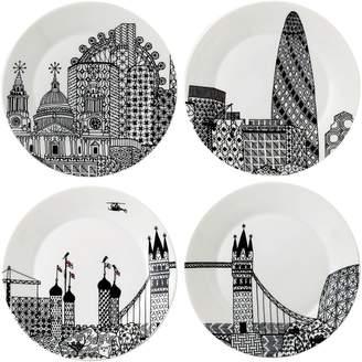 Royal Doulton Charlene Mullen London Calling Plate, 22cm (Set of 4)
