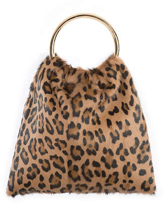 Simonetta Ravizza Furrissima Sacchettino Leopard-Print Top Handle Bag