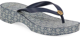 Tory Burch Cutout Wedge Flip-Flop Sandals