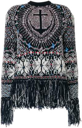 Thom Browne Boxy Pullover With Anchor Fair Isle Jacquard In Wool And Poly Knit