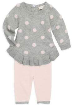 Miniclasix Baby's Two-Piece Polka Dot Sweater and Leggings Set